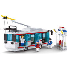 magical model caja buses de juguete diy modular plastic baby monthly building brick toy