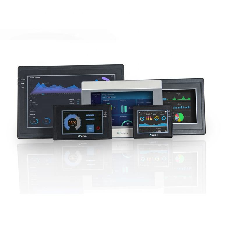 Wecon New Style 7 inch HMI Touch Screen Display based on WEB SCADA with faster screen update