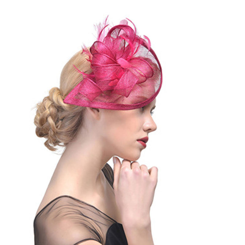 Europe And America Hot Bridal Headwear Wedding Fascinators And Hats Feather Hair Bands