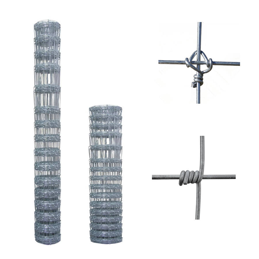 fixed knot woven field fencing hog wire