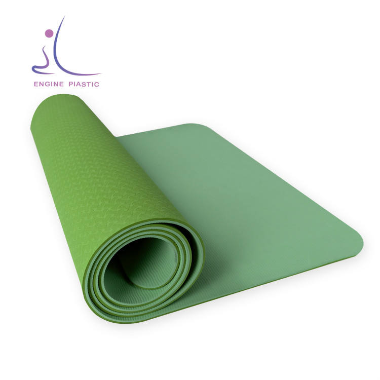 Wholesale Eco Customized friendly Colorful Exercise Pilates Stability Rubber Foldable Sustainable Rubber Tpe Yoga Mat