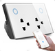 US/AU/North America Standard Wifi Double Power Point 2 Plug/Gang Socket Touch Function with USB Charge Port