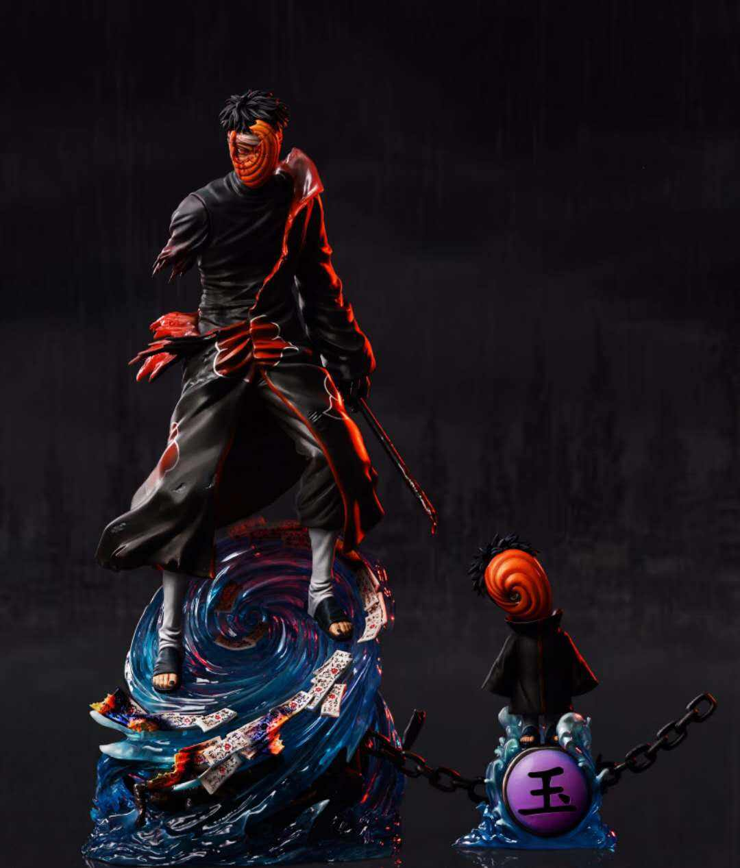 Figurine <span class=keywords><strong>Naruto</strong></span> GK CW <span class=keywords><strong>Akatsuki</strong></span> Uchiha Obito, objet de collection, taille 1:7