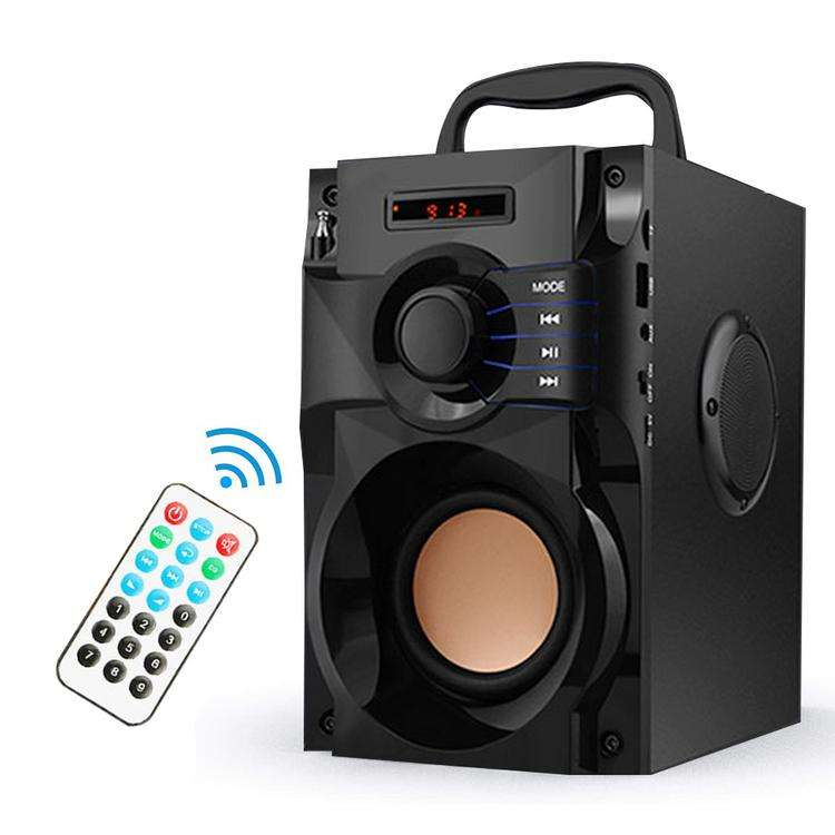 Bluetooth Speaker Portable Subwoofer Bass Speaker Remote Control Outdoor Indoor Party Speakers Support FM Radio TF Card