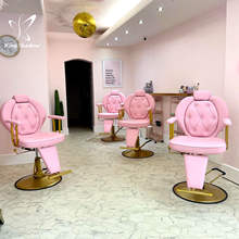 Beauty Pink Chair Hair Dresser Hydraulic Salon Furniture Styling Chair