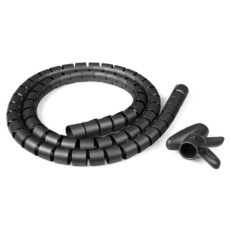 22mm Flexible Cable Organizer Spiral Tube Cable Wire Wrap Computer Manage Cord