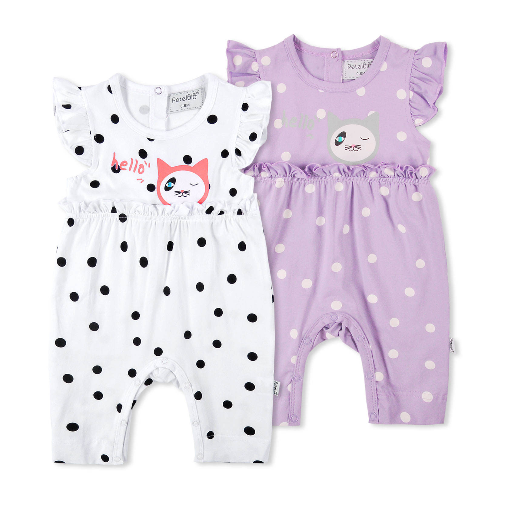 Petelulu Wholesale manufacturing company baby girs romper infants short sleeve one piece outfit summer toddlers outwear
