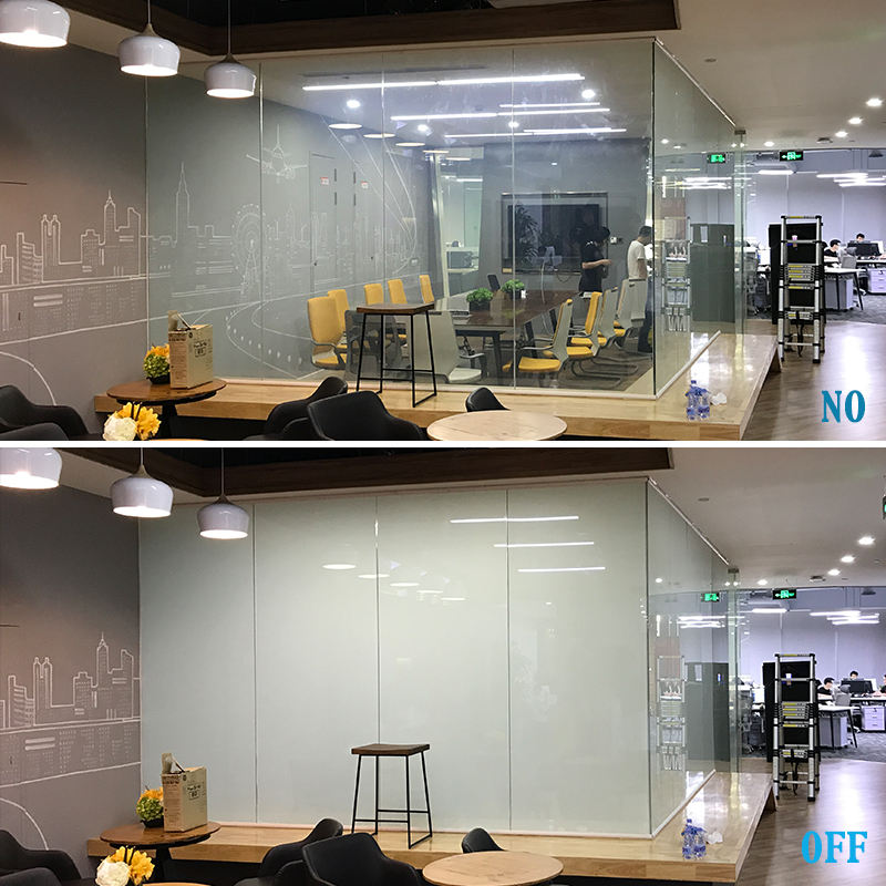 PDLC Intelligent Smart Glass Film For Rooms Offices Partition Electric Smart Film Windows