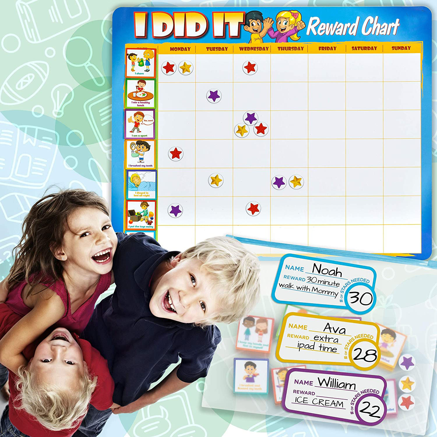 Magnetic Educational Toy Reward Chart Chore Chart for Kids