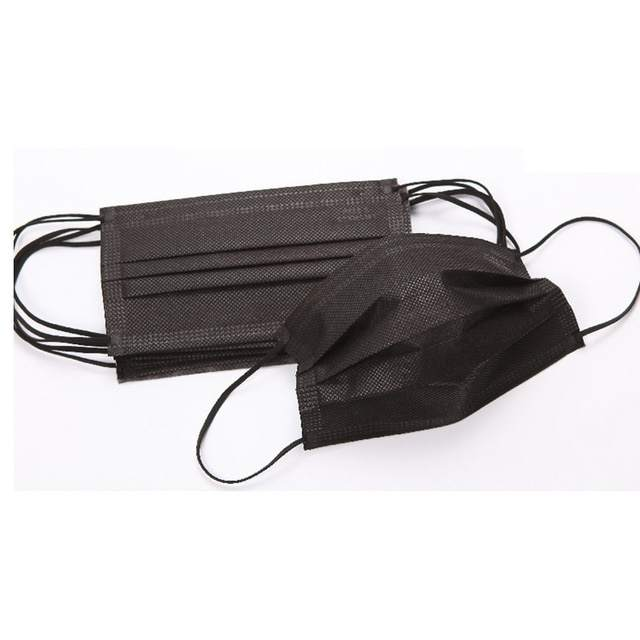 Black protective surgical mask high filtration and easy to breath fashionable medical disposable face mask
