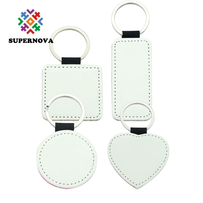 2019 New Arrival Sublimation Blanks Leather Keychain Custom Blank Keyrings