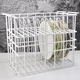 Glass Rack White Restaurant Glass Charger Plate Rack Iron Storage Tray Plate Frame