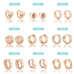 Cheap New Trend Fashion Designs Jewelry Earrings Women 14k champagne Gold Plate Wedding Earrings