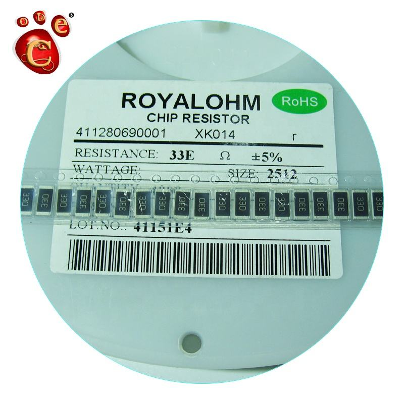 100 pieces SMD 1watts 5.1mohms1/% Current Sense Resistors