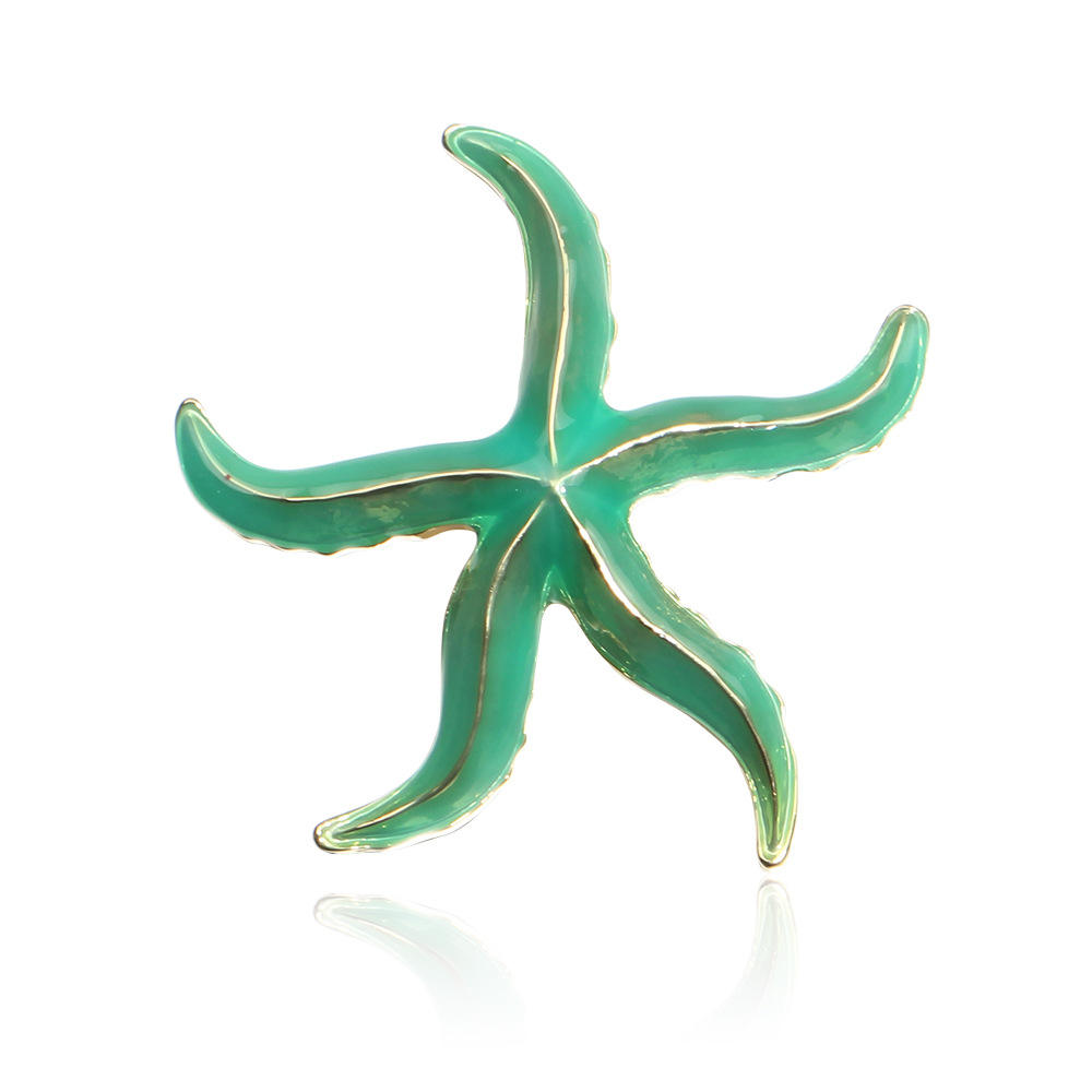 Commercio all'ingrosso <span class=keywords><strong>Verde</strong></span> Dello Smalto <span class=keywords><strong>Starfish</strong></span> Spilla Accessori
