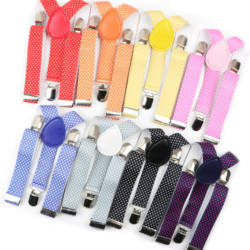 Dot Colorful Children Belt Baby Boys Girls Suspenders Clip-on Y-Back Braces Elastic Kids Adjustable Strap