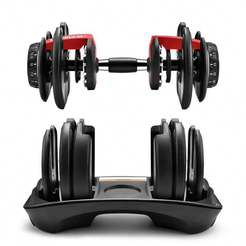 Adjustable dumbbell pair bodybuilding weight training dumbbell and barbell pad