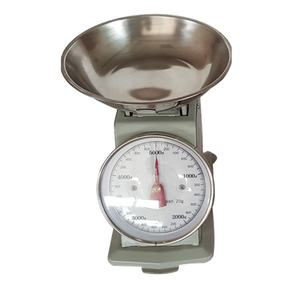 1kg 2kg 3kg 5kg Stainless Steel Round Tray Kitchen Dial Mechanical Spring Scale