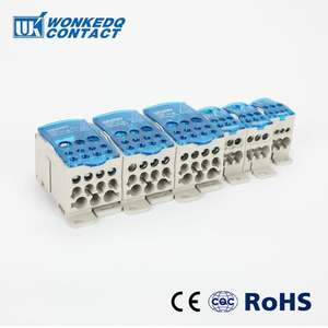 UKK 80A Distribution Din Rail terminal block power distribution block