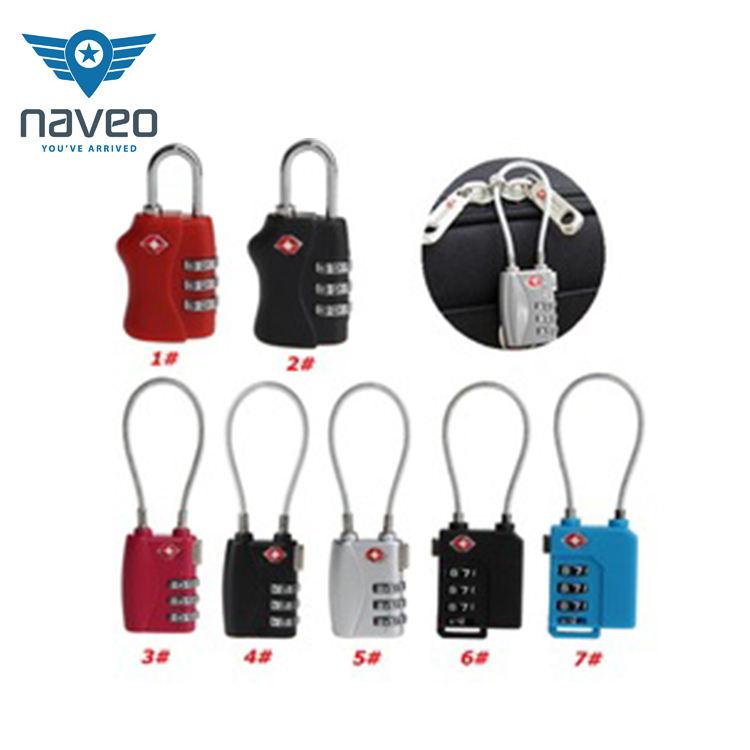Custom security protect number combination password lock 6 digit tsa combination luggage lock
