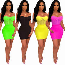 90703-MX17 Sexy club sleeveless 4 ciolors party dress for women