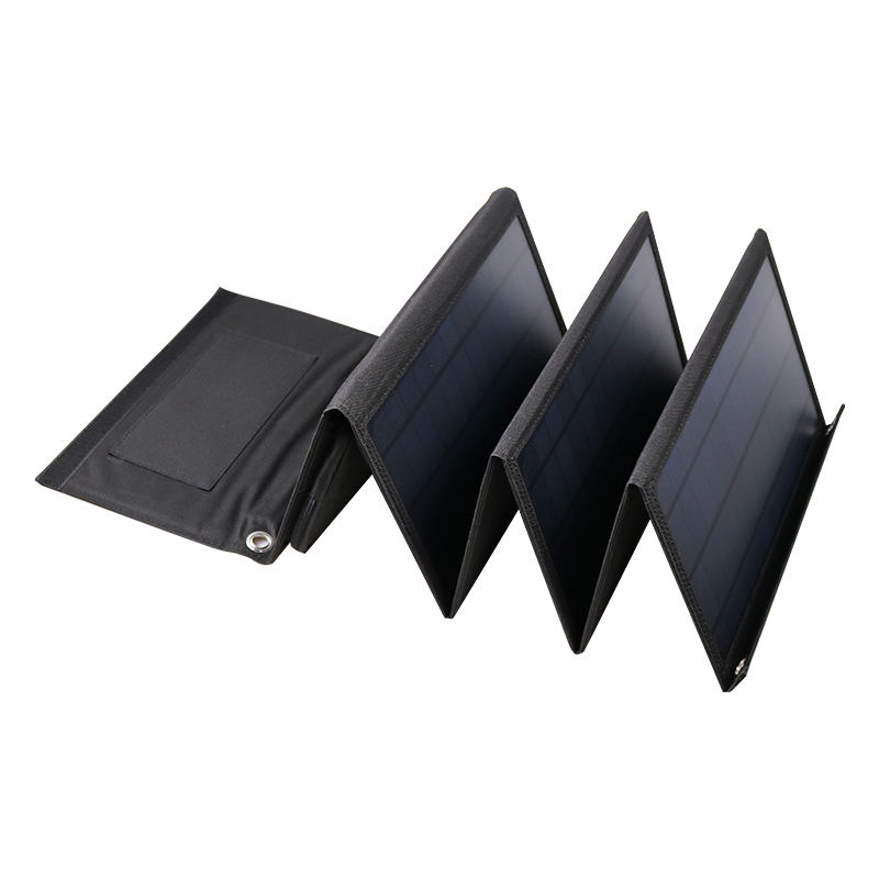 New design Sunpower mini solar panel 24w Fast Charger USB solar cell panel With Cable