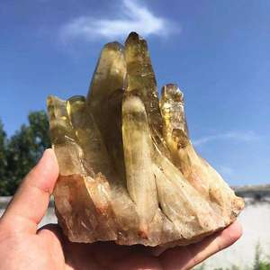 Wholesale natural healing crystals stone citrine clusters for gift