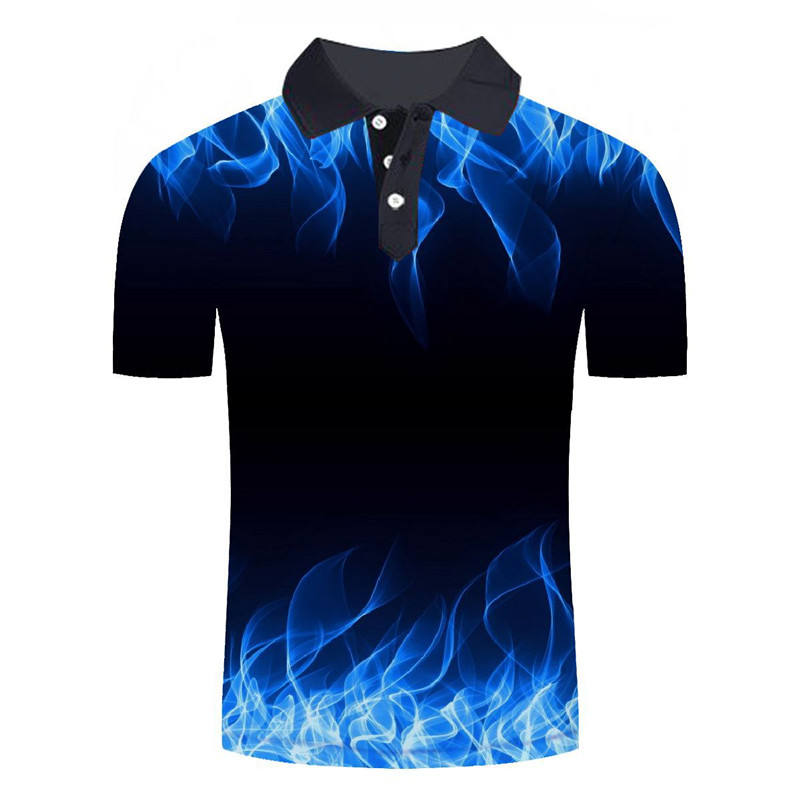 Sublimation fashion polo shirt design printing men short t shirt