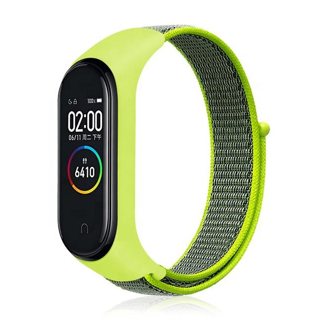 Hot Sale Nylon Smart Watch Strap For Xiaomi Mi Band 3 4 Strap