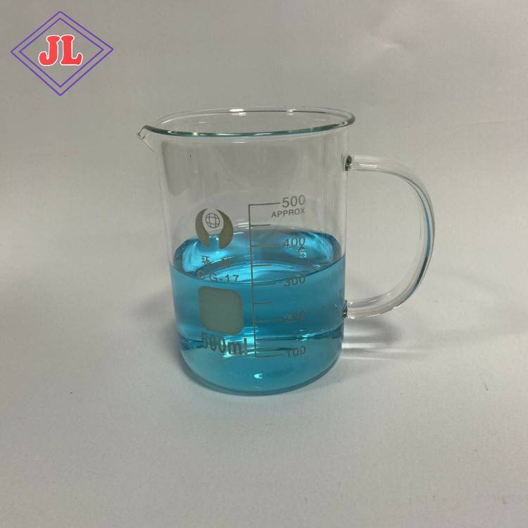 wholesale 500ml glass mug with handle beaker glassware chemical laboratory