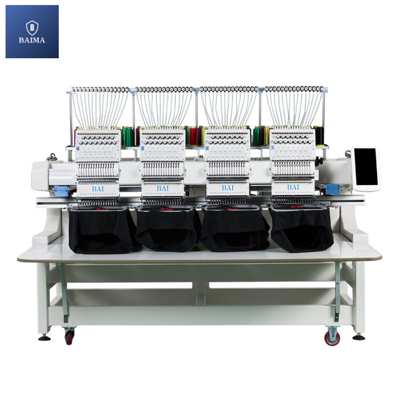 BAI DAHAO system 9 12 15 needles 4 head computer flat cap embroidery machine