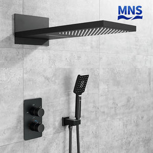 Hitam Set Curah Hujan Shower dan Kamar Mandi Set Hotel Shower Set