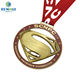 Custom logo/shape plating shiny gold/silver/antique sport medal with custom ribbon lanyard