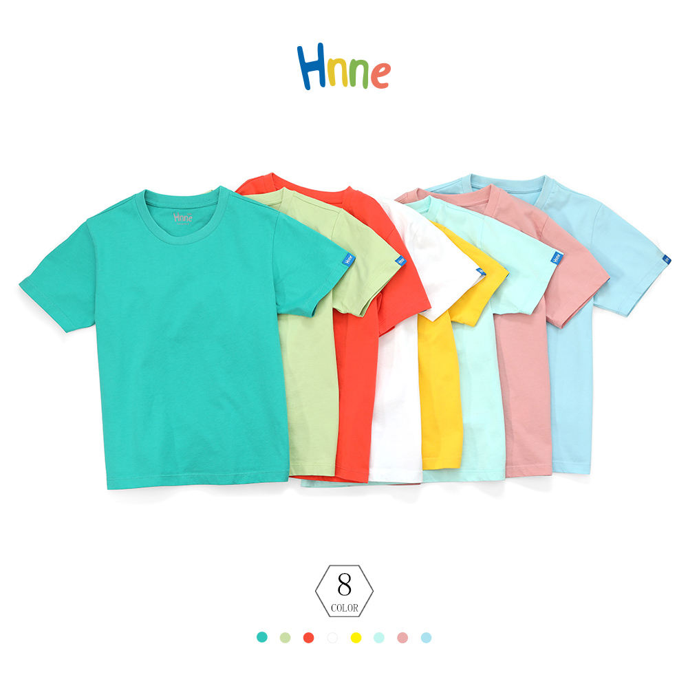 Summer t-shirt boy and girls beautiful plain 8 colors factory wholesale 100% cotton children's clothes hot selling new fashion