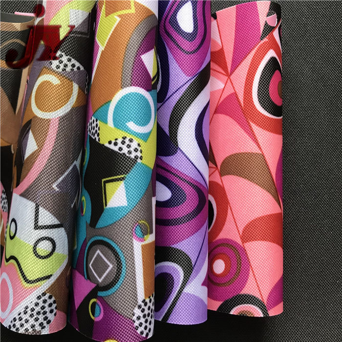 China Textile Factory Factory Woven 600d polyester action hero print fabric For Promotion Backpack