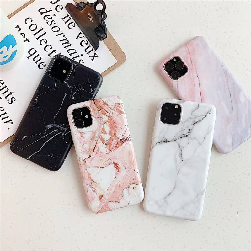 For iPhone 11 Pro Max Case Fashion 360 Full Protective Matte IMD Marble Shockproof Fashion Soft TPU Case For iPhone 11Pro Max