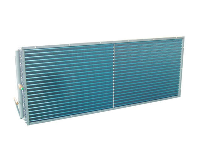 Cooling system condenser for wall split ac for refrigeration trucks