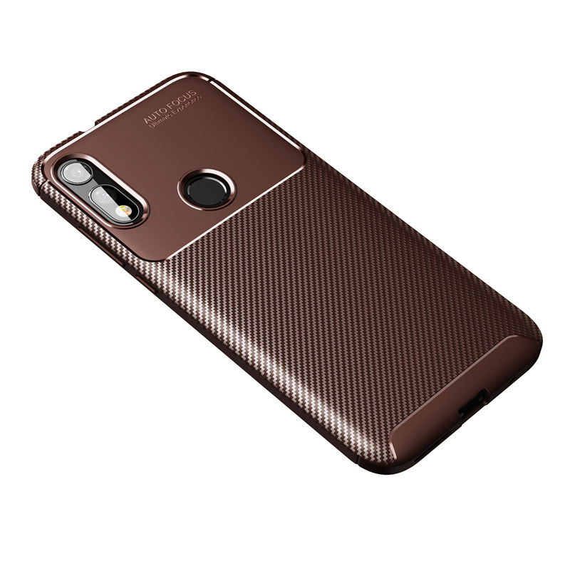 Soft Silicon Cell Phone Cover Carbon Fiber Case For Motorola E7 One Macro Action Vision E6 G8 Power Edge+ Plus