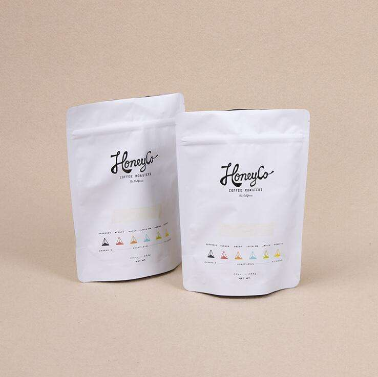 Eco Friendly PLA 100% Biodegradable And Compostable Plastic Food Packaging Bag With Zipper