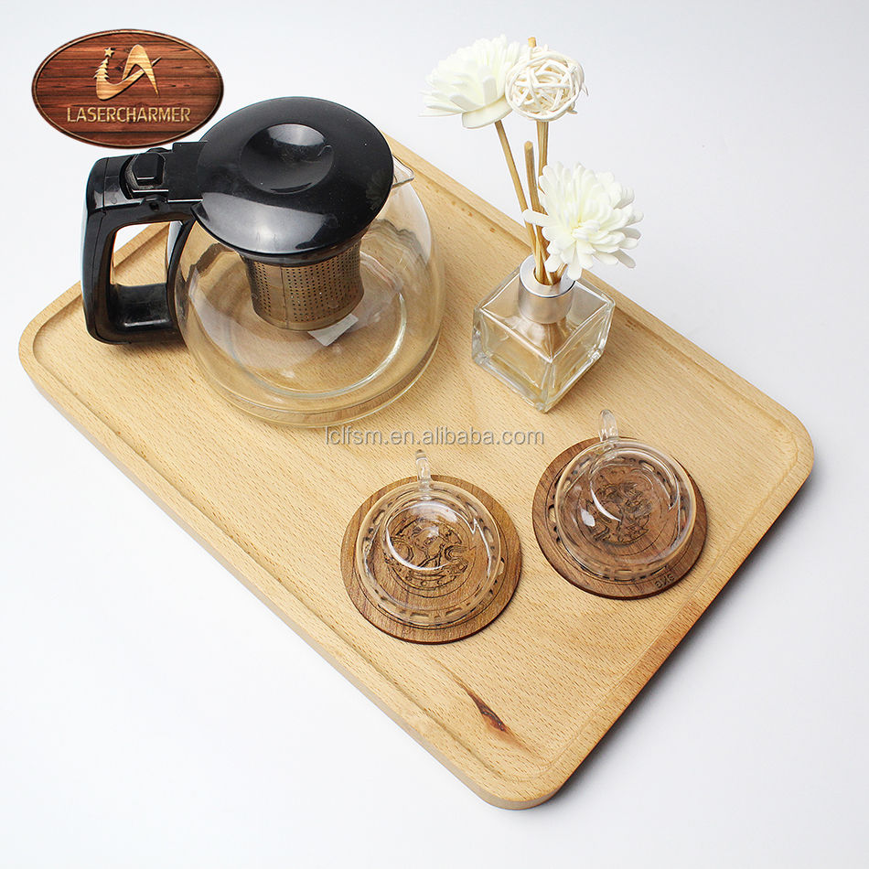 Natural Beech Wood Eco-friendly Dinner wood Plates