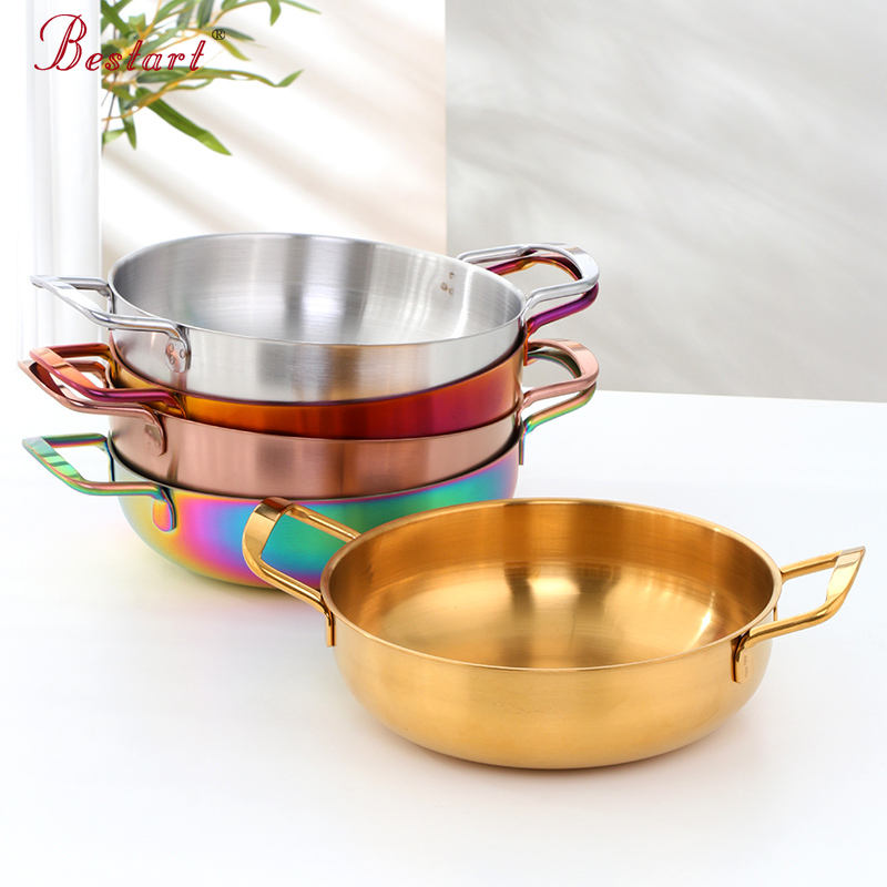 Hot Sell Cookware Pot Stainless steel Serving Pan for Restaurant Cooking