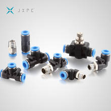 Black Plastic Pneumatic One Touch Tube Fitting