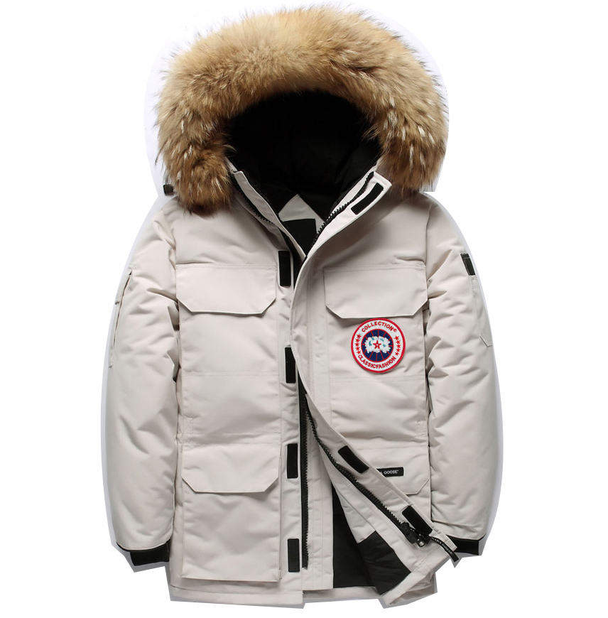 Amazon hot sell winter clothes canada style men's goose down jacket thick outdoor coat young people's popular windbreaker OEM
