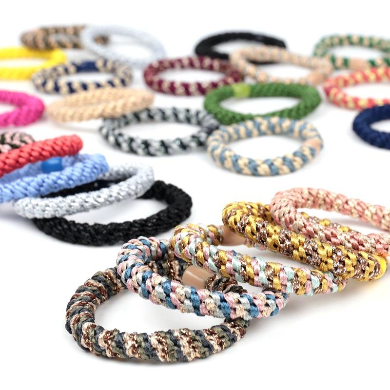 New Arrived Simples Fashion Colorful Rubber Korean Elastic Hair Ring Kknekki Hair Elastic Hair Band For Women