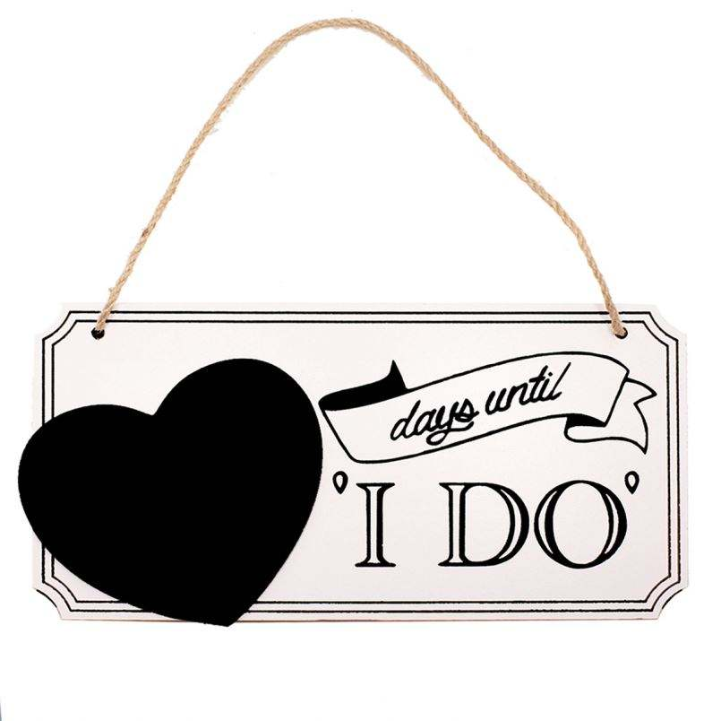I DO Wedding Decor Printed Wood Plaque Sign Wall Hanging Marriage Proposals Sign Wall Art For Home House Decoration