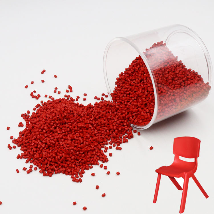 Pigment plastique masterbatch de couleur rouge disperser uniformément Fabricant masterbatch