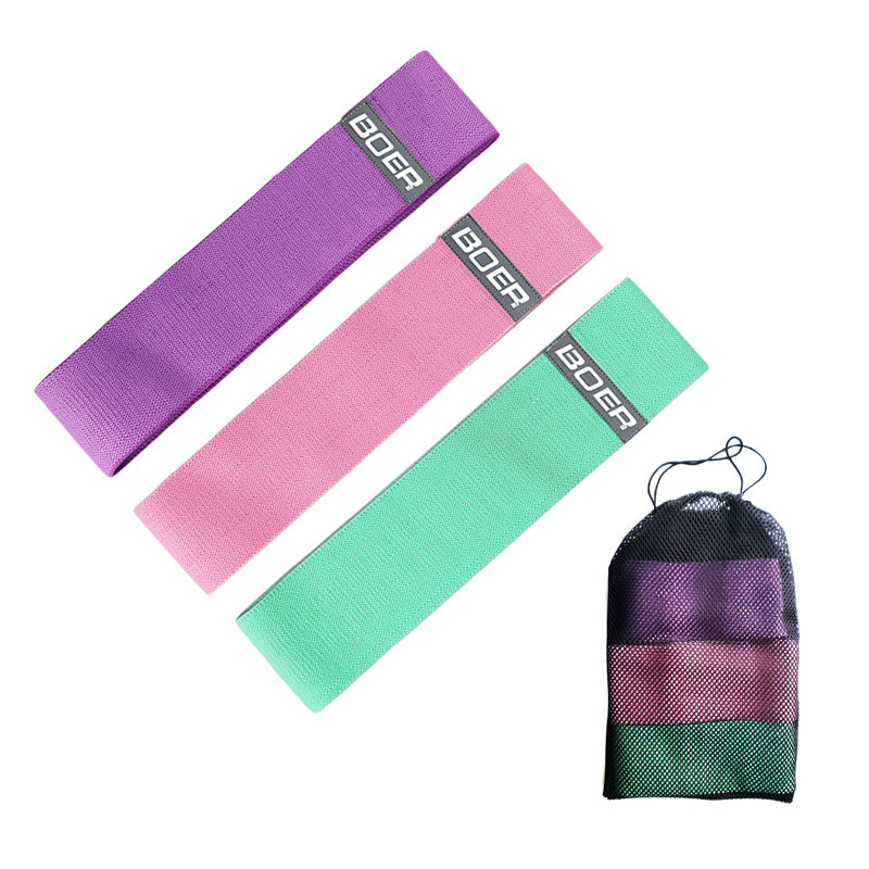 Hip Band Cotton Yoga Resistance Band Wide Booty Exercise Legs Band Loop For Circle Squats <span class=keywords><strong>Training</strong></span> Anti Slip Rolling