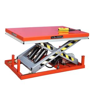 Customized Steel Structure Hydraulic Scissor Cargo Lift For Sale