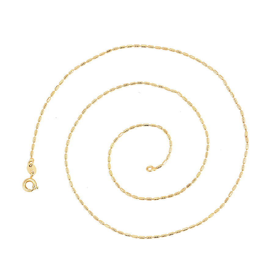 45812 xuping jewelry fashion gold color chain necklaces simple 18k gold color plated necklaces