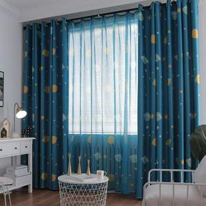 New high shade printed curtains blue cartoon bed curtains for boys hot selling